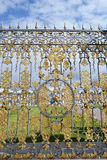 Fragment of catherine palace gate in Tsarskoye Selo. Stock Photography