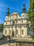 Fragment of the Catholic church in Krakow, Poland. Royalty Free Stock Image