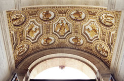 Fragment of ceiling decorations in St. Peter's Basilica Royalty Free Stock Photos