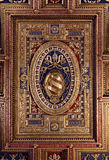 Fragment of ceiling  in the Loggia delle Benedizioni, Rome, Ital Royalty Free Stock Photo