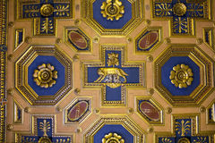 Fragment of ceiling with  Lupa Capitolina, basilica of Aquileia, Capitoline Museums, Rome, Italy Stock Photography