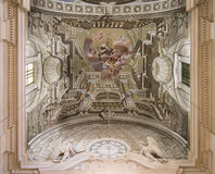 Fragment of the ceiling painting in the church Stock Photo