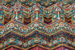 Fragment of ceramic cladding of the building wat pho. Thailand. Bangkok Royalty Free Stock Image