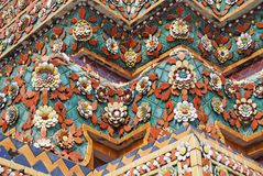 Fragment of ceramic cladding. Of the building wat pho. Thailand. Bangkok Stock Photography