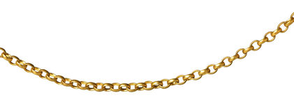 A fragment of a chain Royalty Free Stock Photography