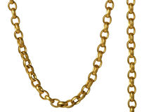 A fragment of a chain Stock Photography