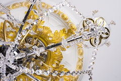 Fragment of chandelier Stock Photography