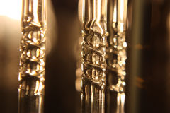 Fragment of chandelier electrical. Shallow depth resolution Royalty Free Stock Photography