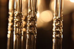 Fragment of chandelier electrical. Shallow depth resolution Stock Images