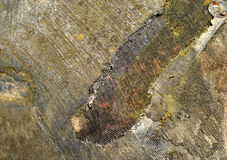 Fragment of charred skin of lander topographical satellite. Stock Photo