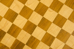 Fragment of checkers or chess board. Stock Photography