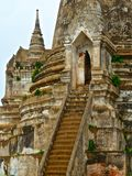 Fragment of chedi in Buddhist temple Wat Phra Sri Sanphet in Ayutthaya Stock Photography