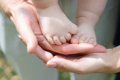 A fragment of a children's leg Royalty Free Stock Images