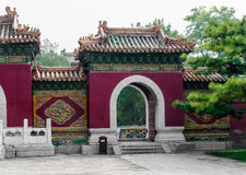A fragment of Chinese gate Stock Photography