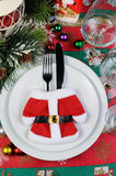 Fragment of the Christmas table Royalty Free Stock Photos