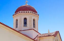 Fragment of church in the city of Retimno, the island of Crete, Stock Photography