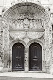 Fragment of the Church of Nossa Senhora da Conceicao Velha in Lisbon Stock Photography