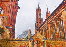 Fragment of Church of Saint Anna and Church of the Bernardine in Stock Images