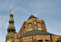 Fragment of church of Saint Peter in old Riga Royalty Free Stock Photo