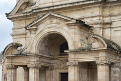 Fragment of The Church of St Catherine of Italy in Valletta Royalty Free Stock Images