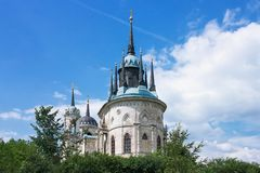 Fragment of The Church of The Theotokos of Vladimir In The Manor Bykovo royalty free stock photos