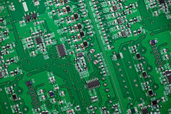 Fragment of circuit board Royalty Free Stock Image