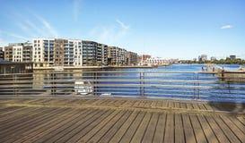 Fragment of the city of Copenhagen in Denmark stock photos