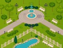 Fragment Of City Park Landscape Stock Image