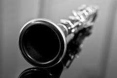 Fragment clarinet Stock Photography