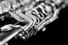 Fragment clarinet closeup Royalty Free Stock Photography