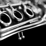 Fragment clarinet closeup Royalty Free Stock Image
