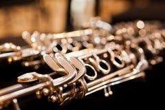 Fragment clarinet closeup Stock Image