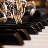 Fragment clarinet closeup Stock Images