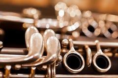 Fragment clarinet Stock Image