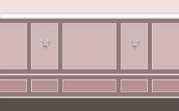 Rosy classic interior. Fragment of classic interior in pastel rose colors Stock Illustration