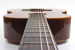 Fragment of classical guitar closeup. musical instrument