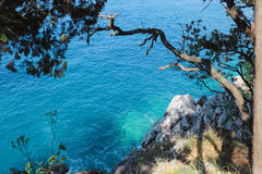 Fragment coast near to Budva town.Montenegro Stock Photos