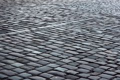 Fragment of cobbled road Royalty Free Stock Photography