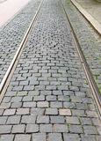 Fragment of a cobbled road useful as texture Royalty Free Stock Photos