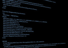 Fragment of code Royalty Free Stock Photography