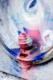 Fragment coloré urbain de graffiti Image libre de droits