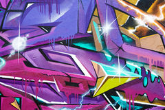 Fragment of colorful graffiti Royalty Free Stock Image