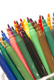 Fragment of colorful markers set Royalty Free Stock Images