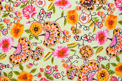 Fragment of colorful retro tapestry textile pattern with floral royalty free stock images