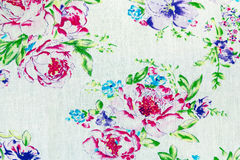 Fragment of colorful retro tapestry textile Royalty Free Stock Images