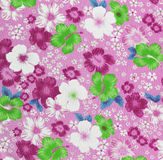 Fragment of colorful retro tapestry textile pattern with floral Stock Photography