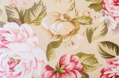 Fragment of colorful retro tapestry textile pattern with floral. Stock Image