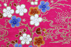 Fragment of colorful retro tapestry textile pattern Royalty Free Stock Photography