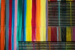 Fragment of colorful wall royalty free stock image