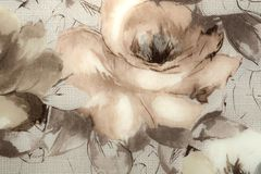 Fragment of colorful Wallpaper with floral ornament useful as background royalty free stock images